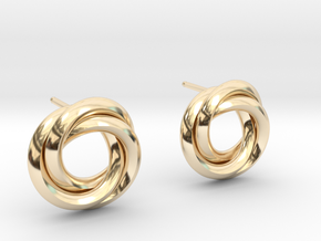 Knot Earrings in 14K Yellow Gold