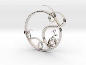 Swirling Circle in Platinum