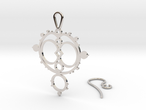Mandelbrot Earring in Rhodium Plated Brass
