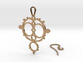 Mandelbrot Earring in Polished Brass