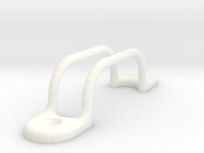 Switch Guard - 2 Bar in White Processed Versatile Plastic