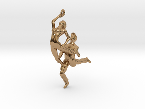 Dance LOVE Pendant-Earring in Polished Brass
