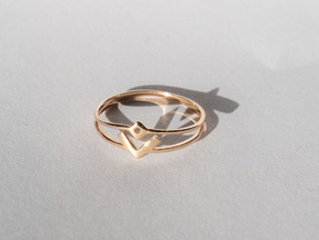 Space Oddity ring size 7.5 in 14k Rose Gold Plated Brass