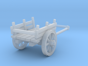 2-wheel cart, 28mm in Smooth Fine Detail Plastic