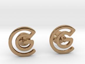 Custom Logo Cufflinks in Polished Brass