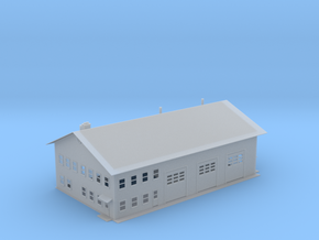 Fire Station Revised Z Scale in Smooth Fine Detail Plastic