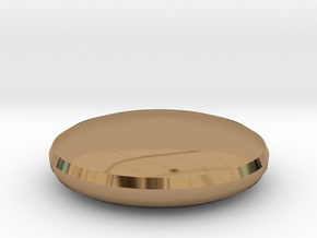 Button Top in Polished Brass