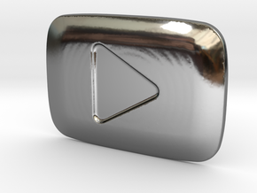 **ON SALE** YouTube Play Button Award in Fine Detail Polished Silver
