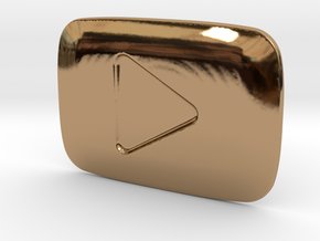 **ON SALE** YouTube Play Button Award in Polished Brass