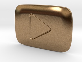 **ON SALE** YouTube Play Button Award in Natural Brass