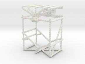 Trading Card Deck Box, Chains Design in White Natural Versatile Plastic