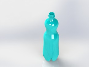 Water Bottle in White Natural Versatile Plastic