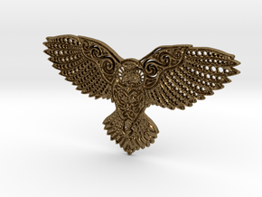 Owl Pendant in Polished Bronze