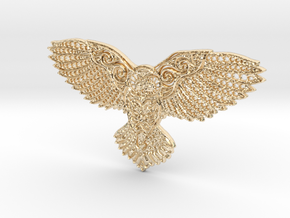Owl Pendant in 14k Gold Plated Brass
