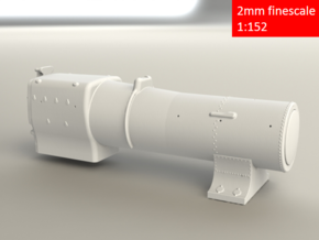 3700 City Class boiler, smokebox, firebox, 2mm FS in Frosted Extreme Detail
