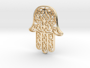 Hamsa Pendant in 14k Gold Plated Brass