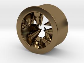 Géode cristalline (diam 10mm) in Polished Bronze