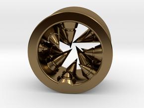 Géode cristalline (diam 9mm) in Polished Bronze