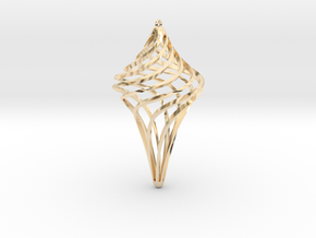 Star Ornament in 14k Gold Plated Brass