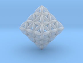 Flower Of Life Octahedron in Smooth Fine Detail Plastic