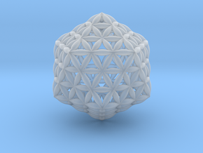 Flower Of Life Icosahedron in Smooth Fine Detail Plastic
