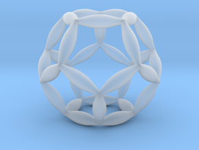 Flower Of Life Dodecahedron in Smooth Fine Detail Plastic