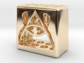 Illuminati 8 Pen Holder in 14k Gold Plated Brass