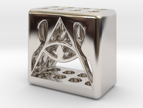 Illuminati 8 Pen Holder in Rhodium Plated Brass
