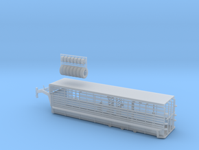 1/64 28' Cattle Trailer Bar Style  in Smooth Fine Detail Plastic