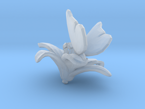 Butterfly And Lily Flower 1 Rock - L in Smooth Fine Detail Plastic