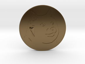 Dogecoin in Polished Bronze