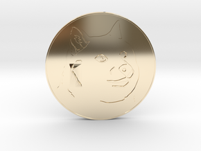 Dogecoin in 14k Gold Plated Brass