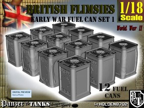 1-18 British Flimsies Can Set1 in Smooth Fine Detail Plastic