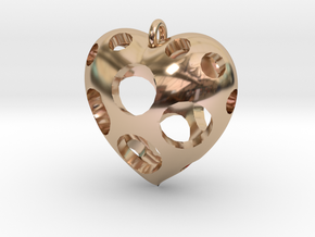 Heart Pendant #3 in 14k Rose Gold