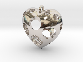 Heart Pendant #3 in Platinum