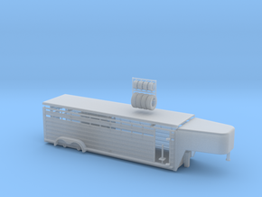 1/64 26' Cattle Trailer Round Nose  in Frosted Ultra Detail
