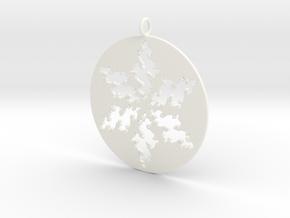 Julia Star Pendant in White Processed Versatile Plastic
