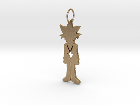 Yugi Pendant in Polished Gold Steel