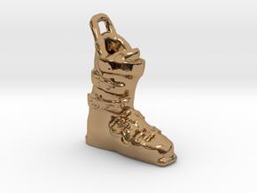 Ski Boot Charm in Polished Brass