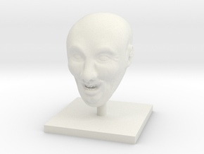 Weird Smiling Head in White Natural Versatile Plastic