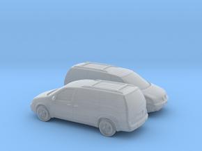 1/160 1999-05 2X Pontiac Montana in Smooth Fine Detail Plastic