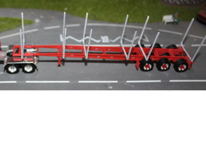 000433 wood loggertrailer HO in White Natural Versatile Plastic