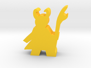 Trickster Villain Meeple in Yellow Processed Versatile Plastic