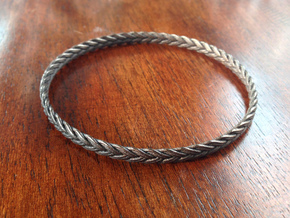 Turk's head bracelet in Polished Bronze Steel