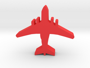 Game Piece, Red Force Air Transport in Red Processed Versatile Plastic