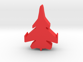 Game Piece, Red Force Super Flanker Fighter in Red Processed Versatile Plastic