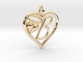 HEART B in 14K Yellow Gold