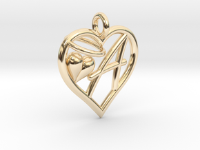 HEART A in 14K Yellow Gold