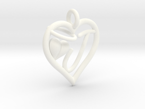HEART J in White Processed Versatile Plastic