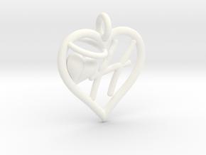 HEART H in White Processed Versatile Plastic